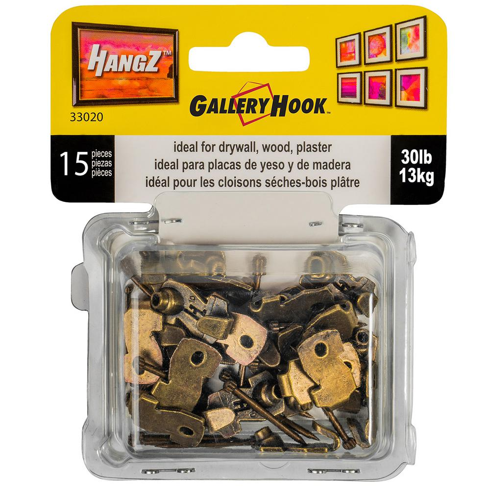 House-Mates Hardware Brass Plated Picture /& Mirror Hangers 30lbs 45 Pc. Load Rating