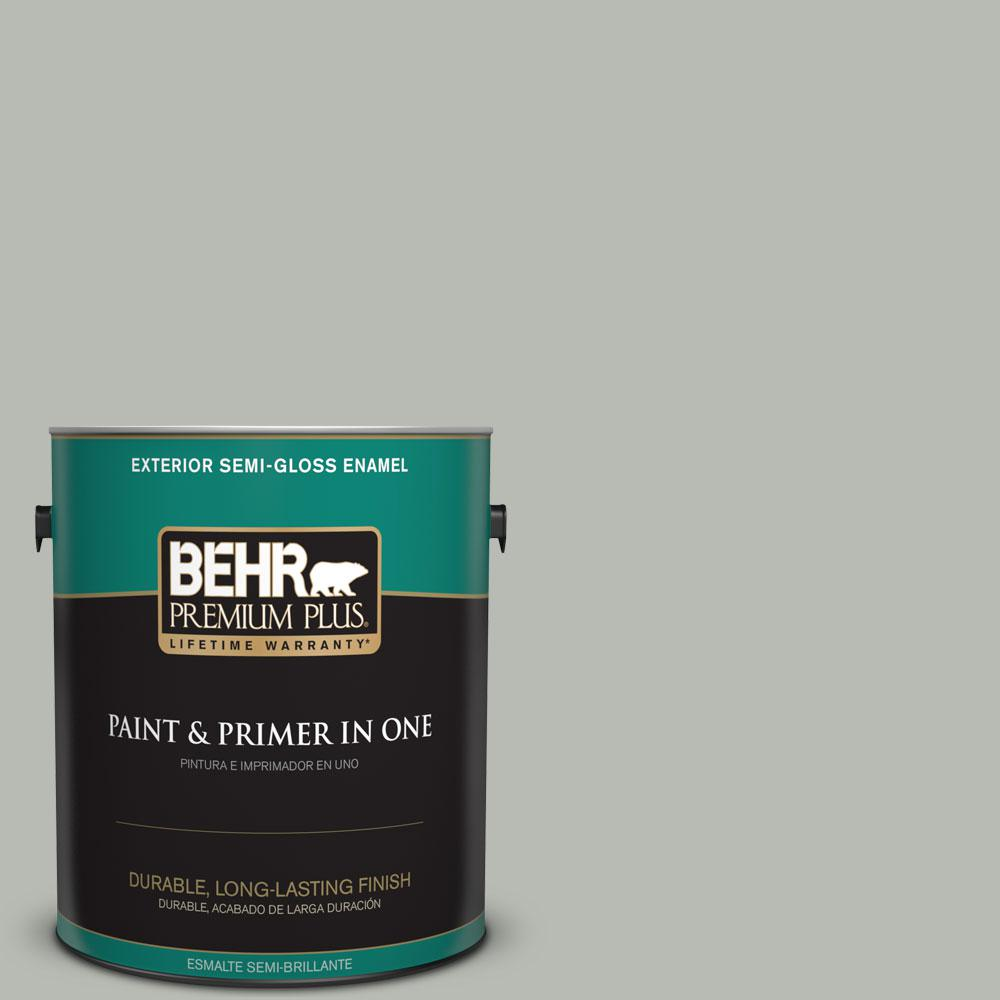Home Decorators Collection 1-gal. #HDC-AC-21 Keystone Gray Semi-Gloss Enamel