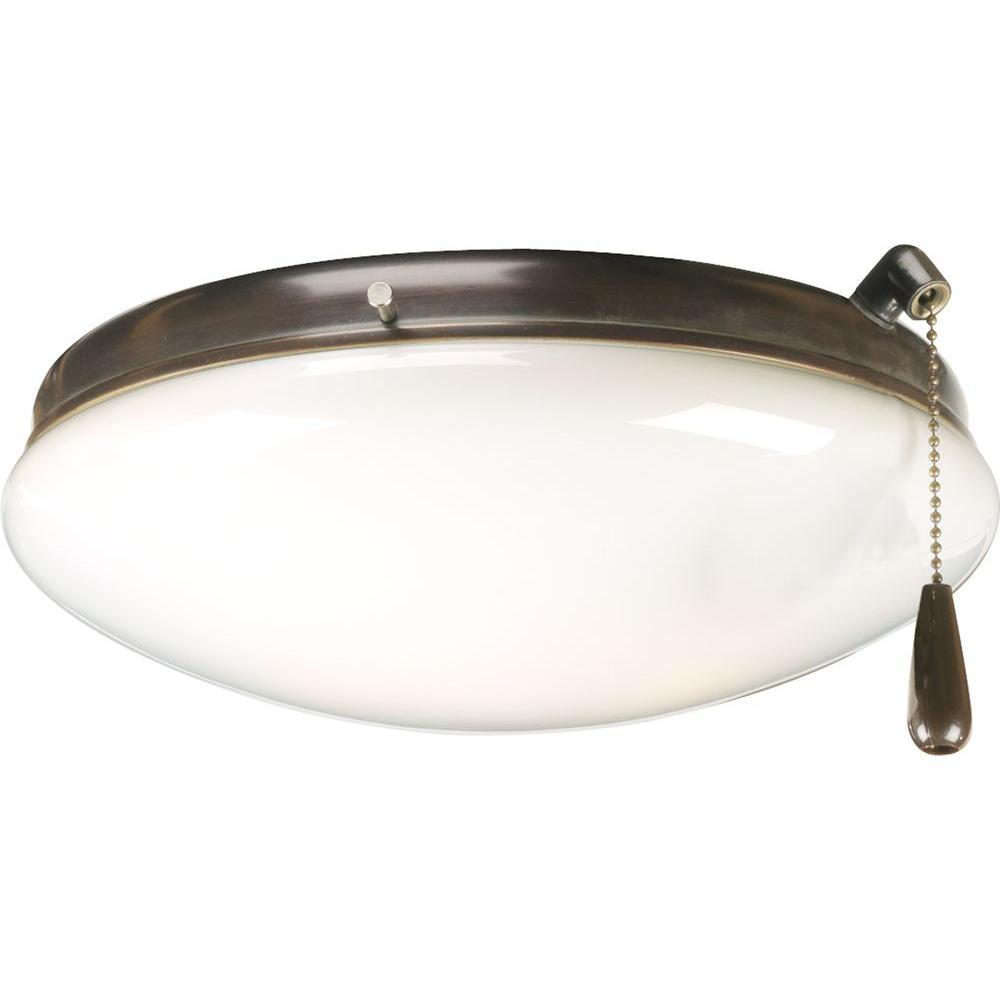 Progress Lighting AirPro 2-Light Antique Bronze Ceiling Fan Light