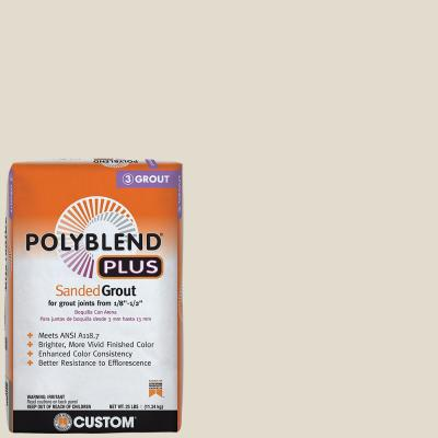 Polyblend Plus #11 Snow White 25 lb. Sanded Grout