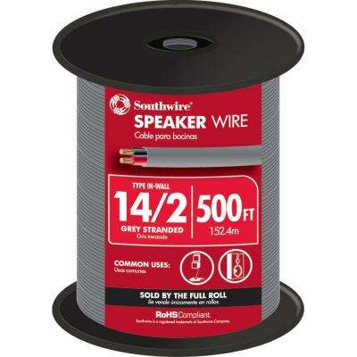 Best Speaker Wire >> 500 Ft 14 2 Grey Stranded Cu In Wall Cmr Cl3r Speaker Wire