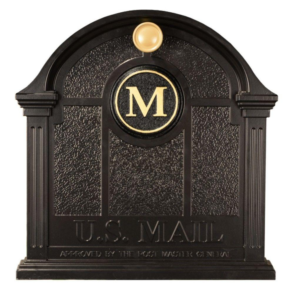 Whitehall Products Personalized Black Front Door Monogram  sc 1 st  Home Depot & Whitehall Products Personalized Black Front Door Monogram-2515BG ...