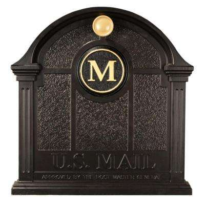 Personalized Black Front Door Monogram