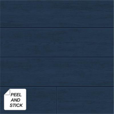 Shiplap Coastal Blue Vinyl Strippable Roll (Covers 30.75 sq. ft.)