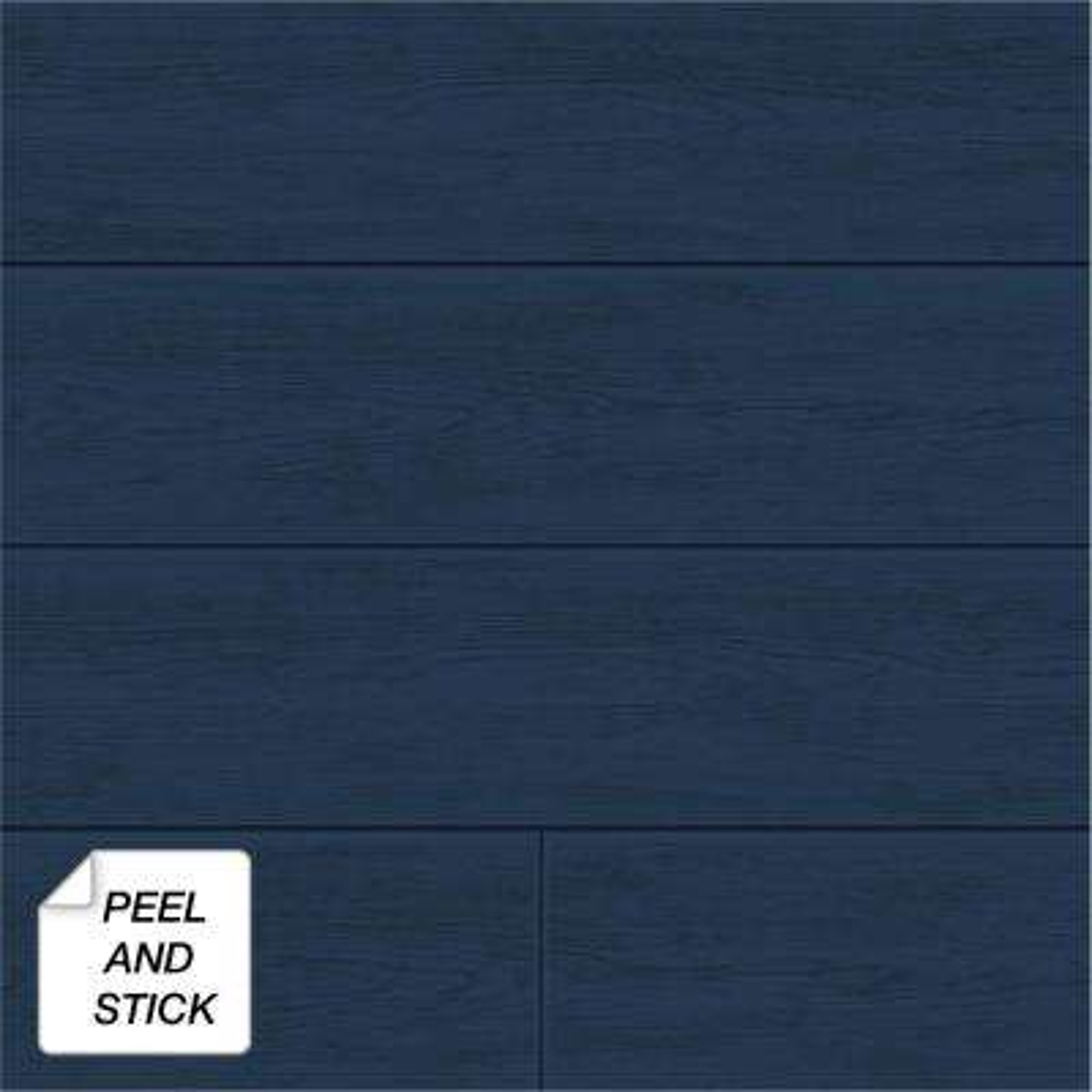 Coastal Blue Shiplap Peel and Stick Wallpaper 30.75 sq. ft.