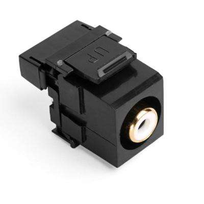 QuickPort RCA 110-Type Connector with White Barrel, Black