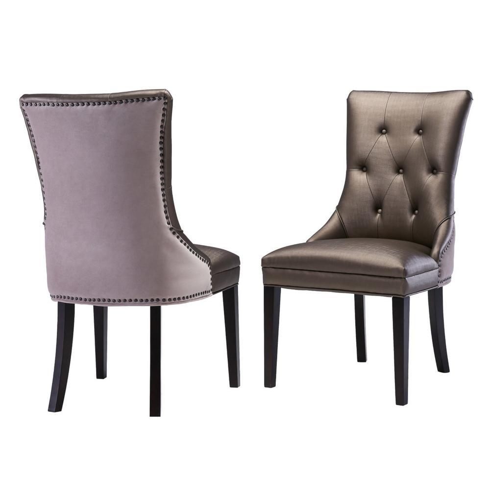 TOV Furniture Ester Bronze Leather Chair (Set Of 2)