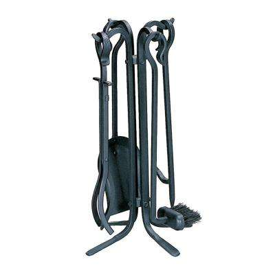 Black Rustic Mini 5-Piece Fireplace Tool Set
