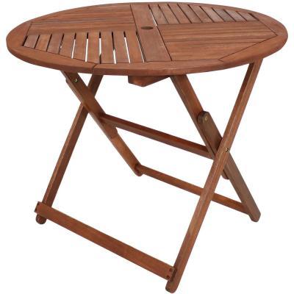Meranti Round Outdoor Wood Folding Table