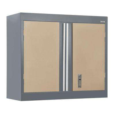 30 in. W x 12 in. D x 26 in. H Modular Steel Wall Cabinet Full Pull in Charcoal/Tropic Sand
