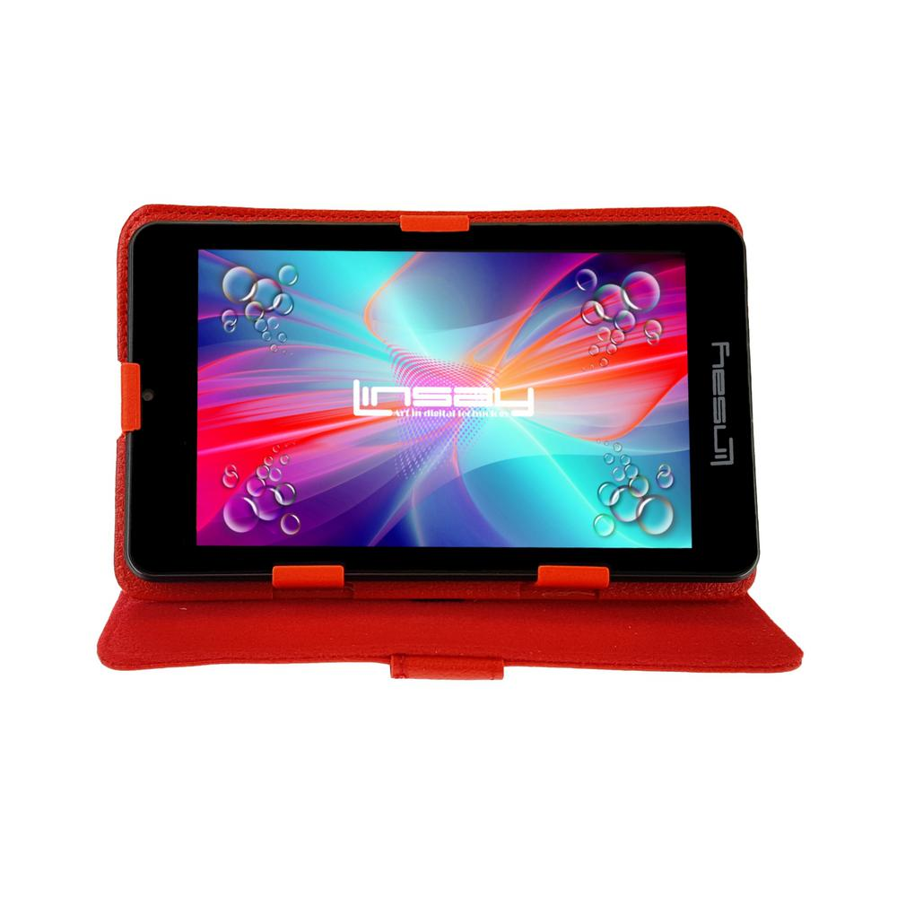 LINSAY 7 in. 2GB RAM 16GB Android 9.0 Pie Quad Core Tablet with Red Case was $119.99 now $54.99 (54.0% off)
