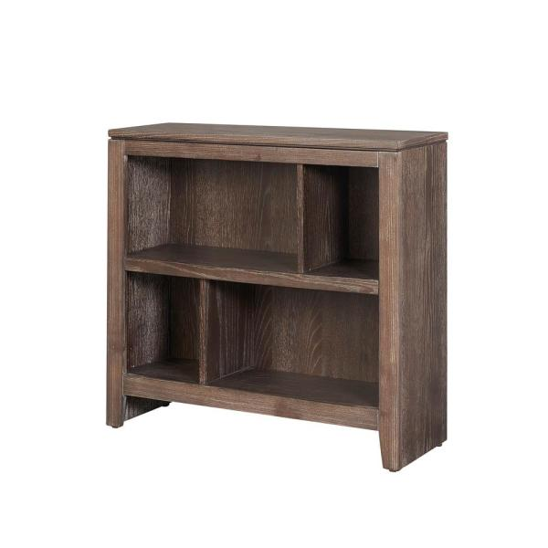 Low Bookcases With Doors: Linon Home Decor Bonnie Washed Brown Finish Small Bookcase