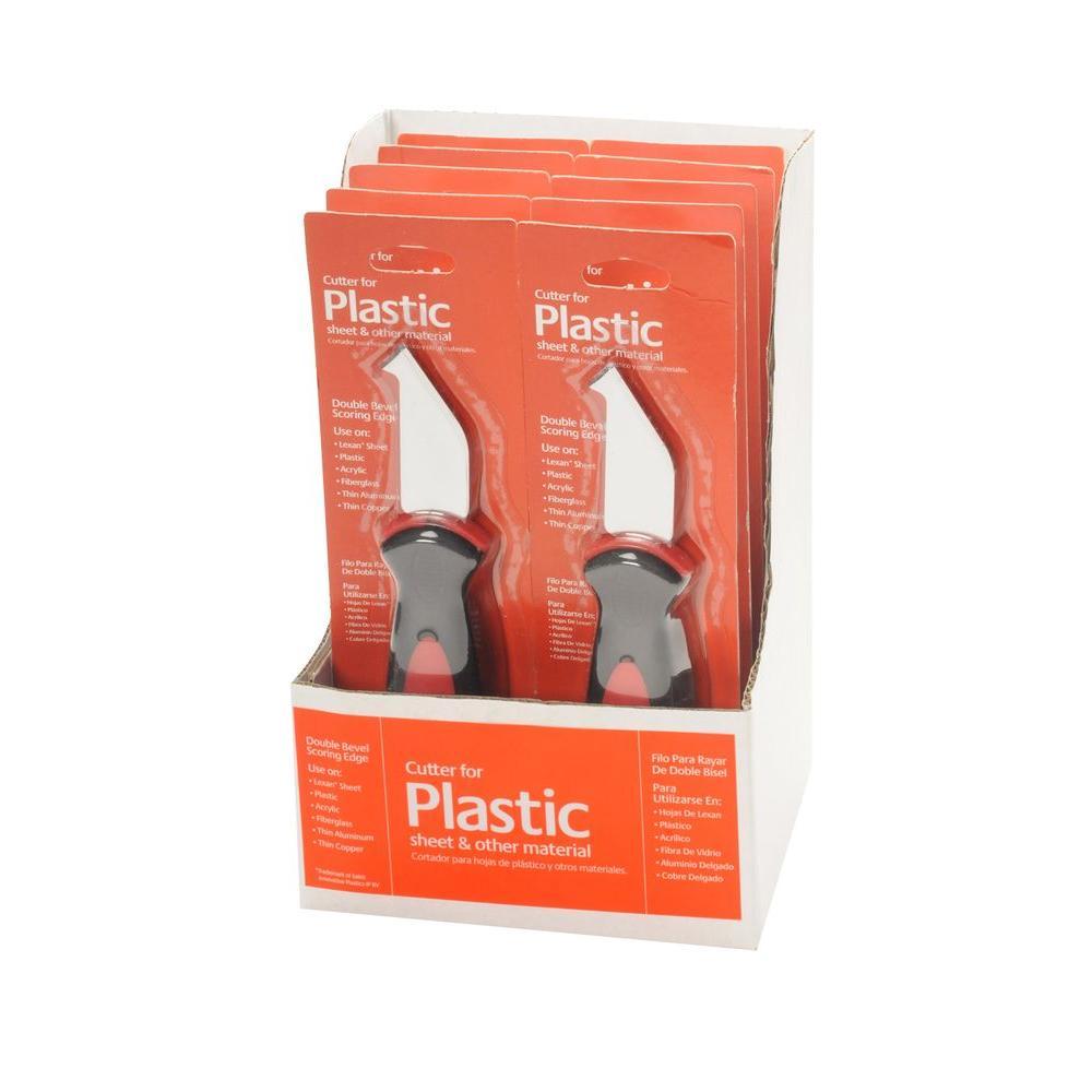 Heavy Duty Plastic Sheet Cutter (10-Pack)