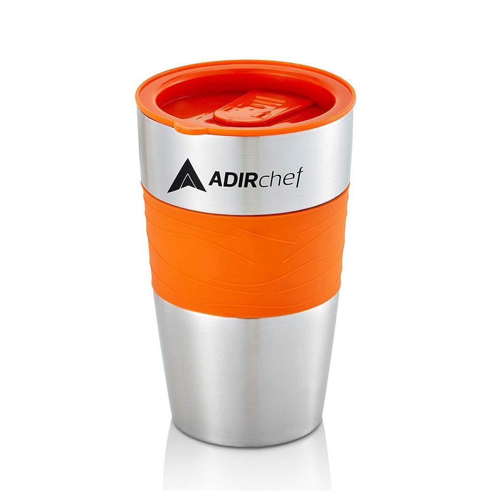 15 oz. Orange Stainless Steel Travel Mug (2-Pack)
