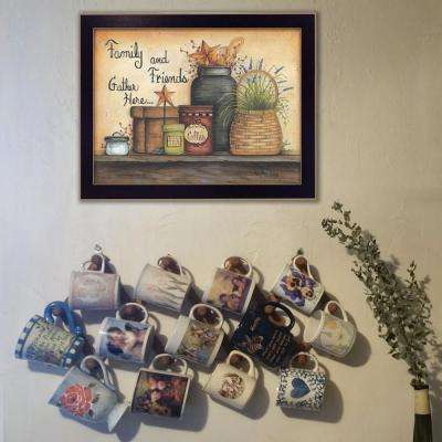 "14 in. x 18 in. ""Family and Friends"" by Mary June Printed Framed Wall Art"