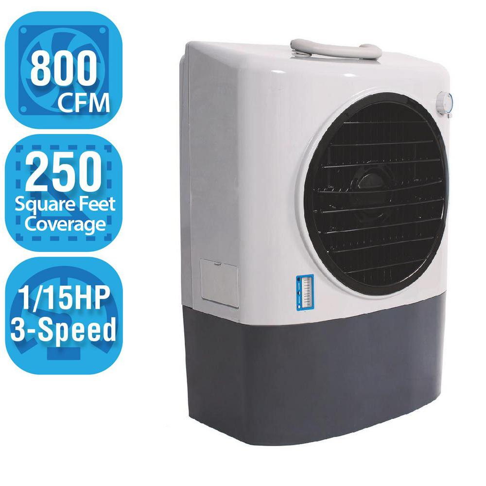 800 CFM 3-Speed Portable Evaporative Cooler for 250 sq. ft.