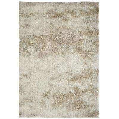 So Silky Sand Polyester 4 ft. x 6 ft. Area Rug
