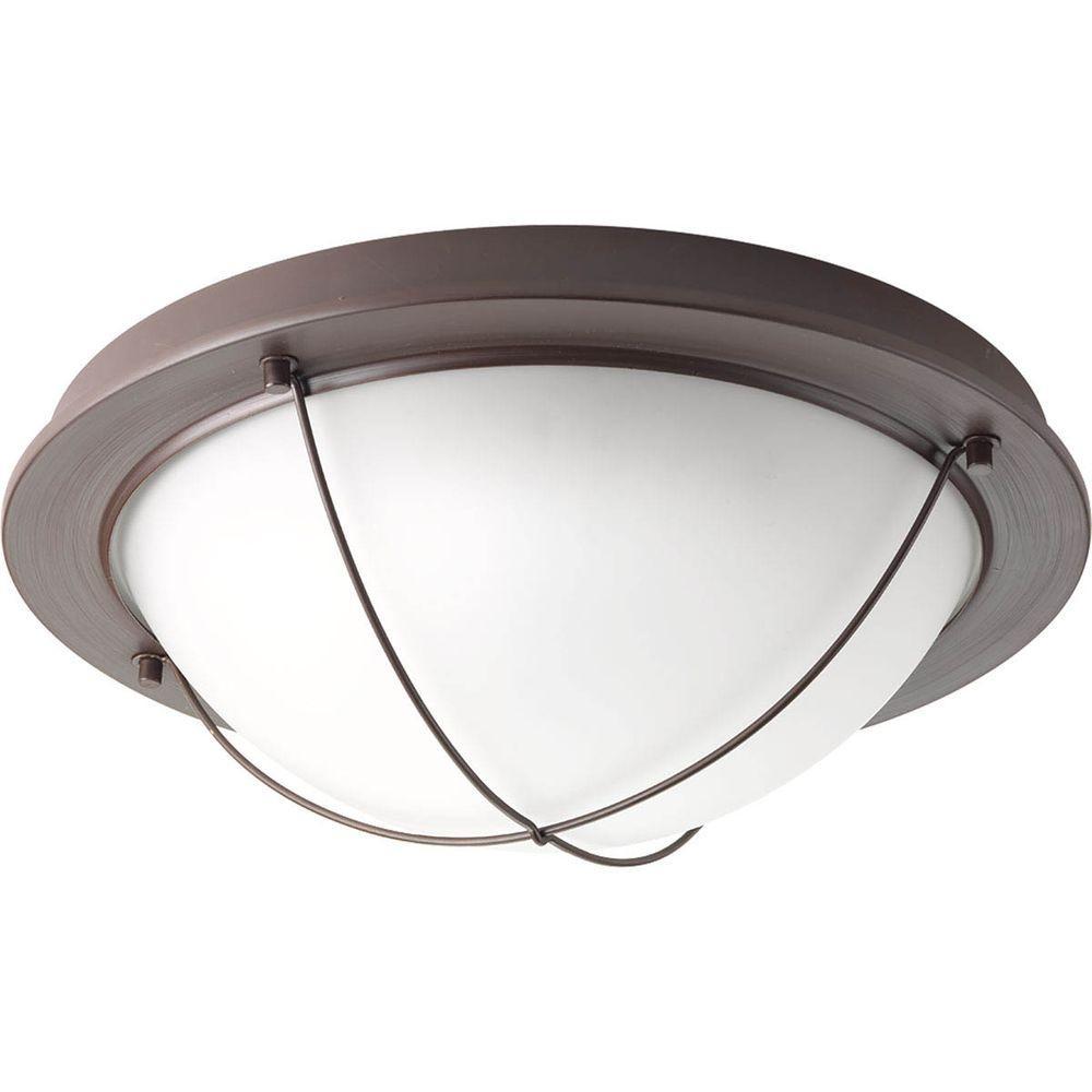 Progress Lighting Portal Collection 1-Light Antique Bronze LED Flushmount