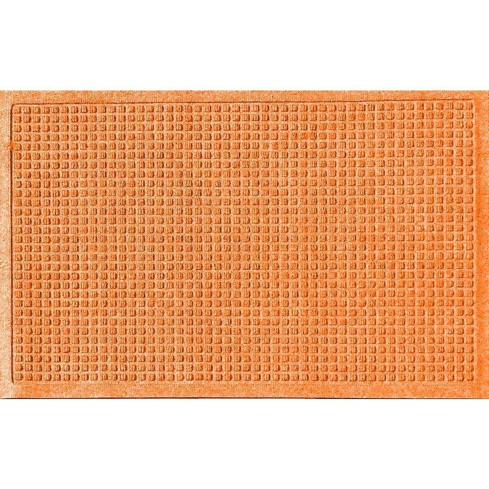 Orange 24 in. x 36 in. Squares Polypropylene Door Mat