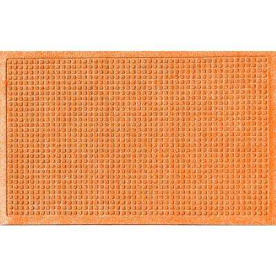 Orange 24 in. x 36 in. Squares Polypropylene Door Mat