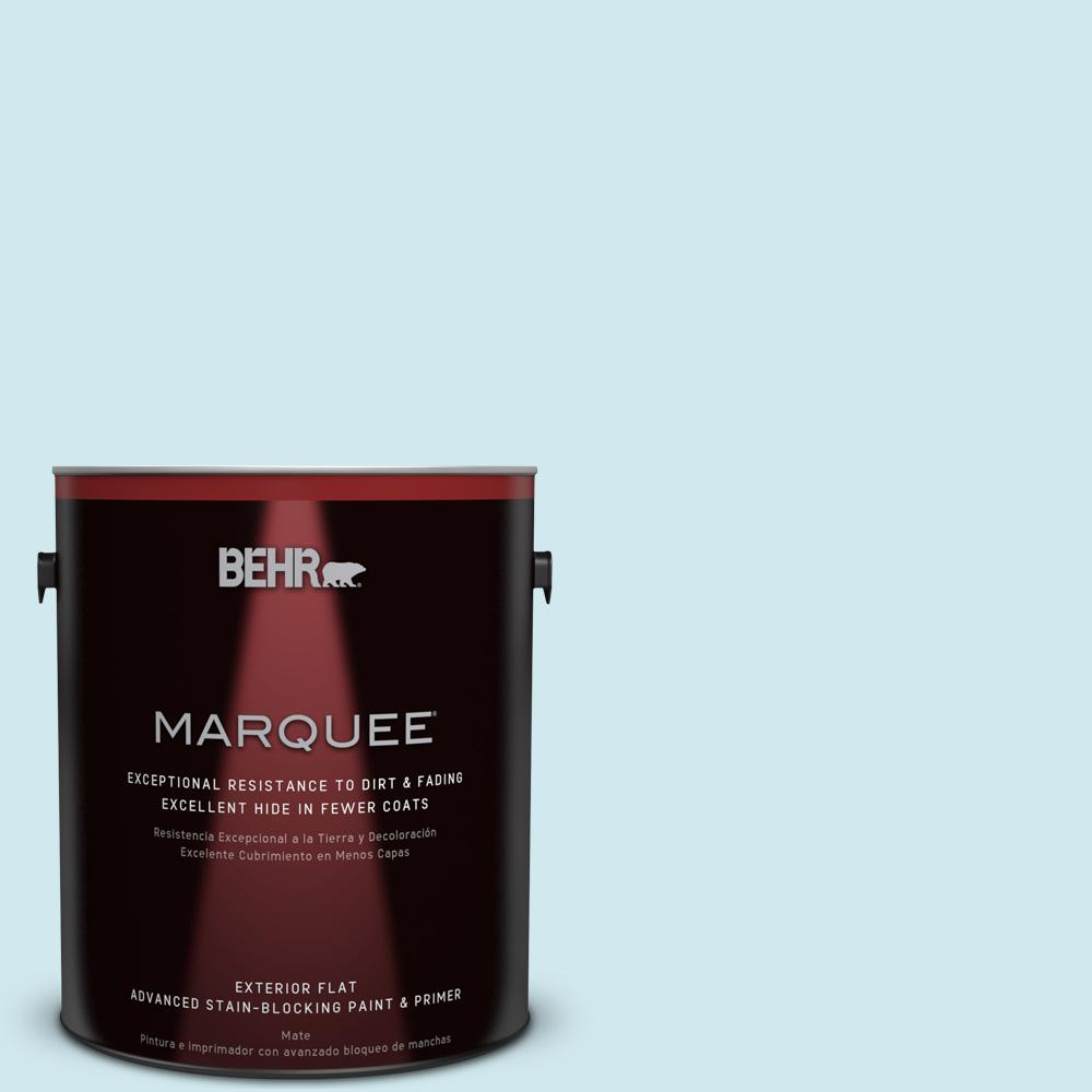 BEHR MARQUEE 1-gal. #540C-1 Mineral Water Flat Exterior Paint