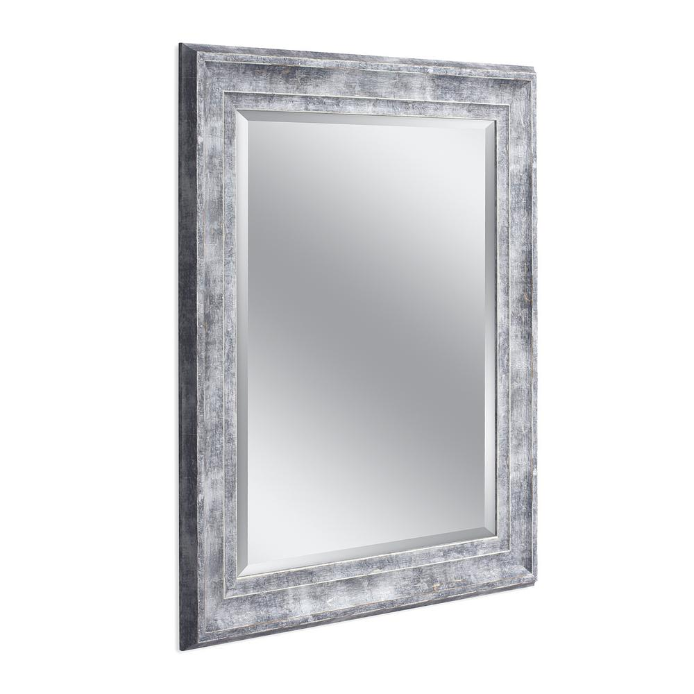Deco Mirror Farmhouse 29 in. x 35 in. Wall Mirror in Gray