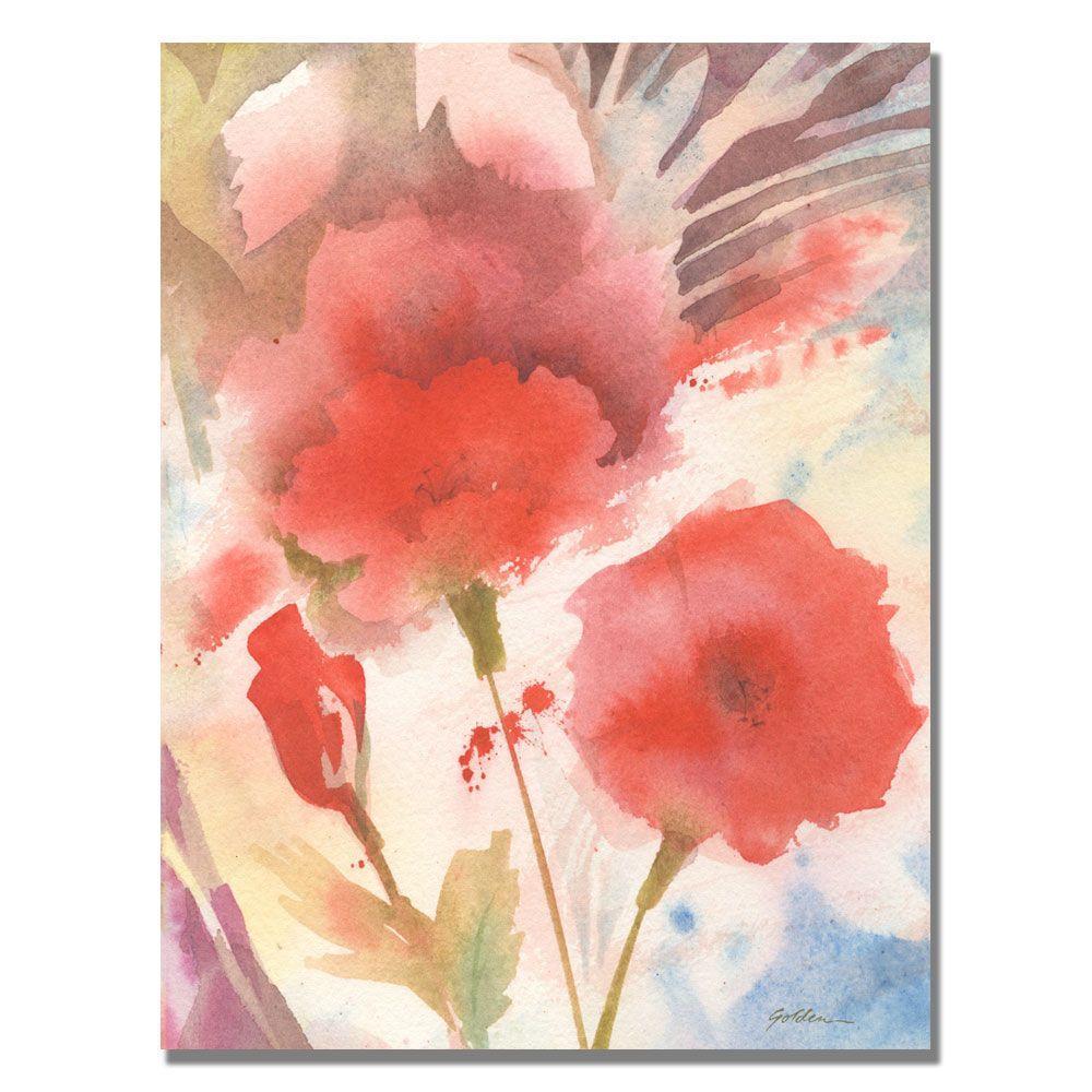 18 in. x 24 in. Red Echo Canvas Art