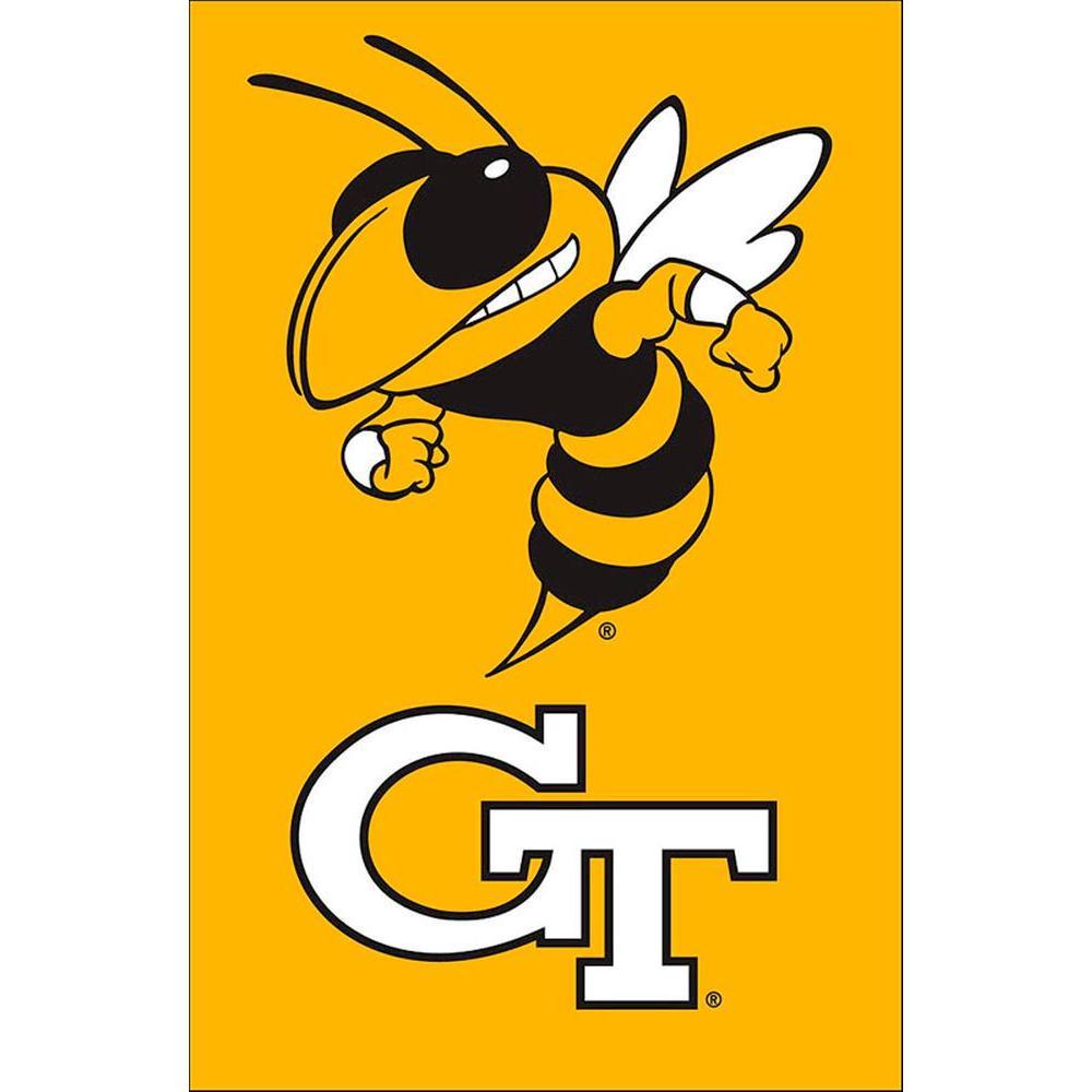 NCAA 12-1/2 in. x 18 in. Georgia Tech 2-Sided Garden Flag