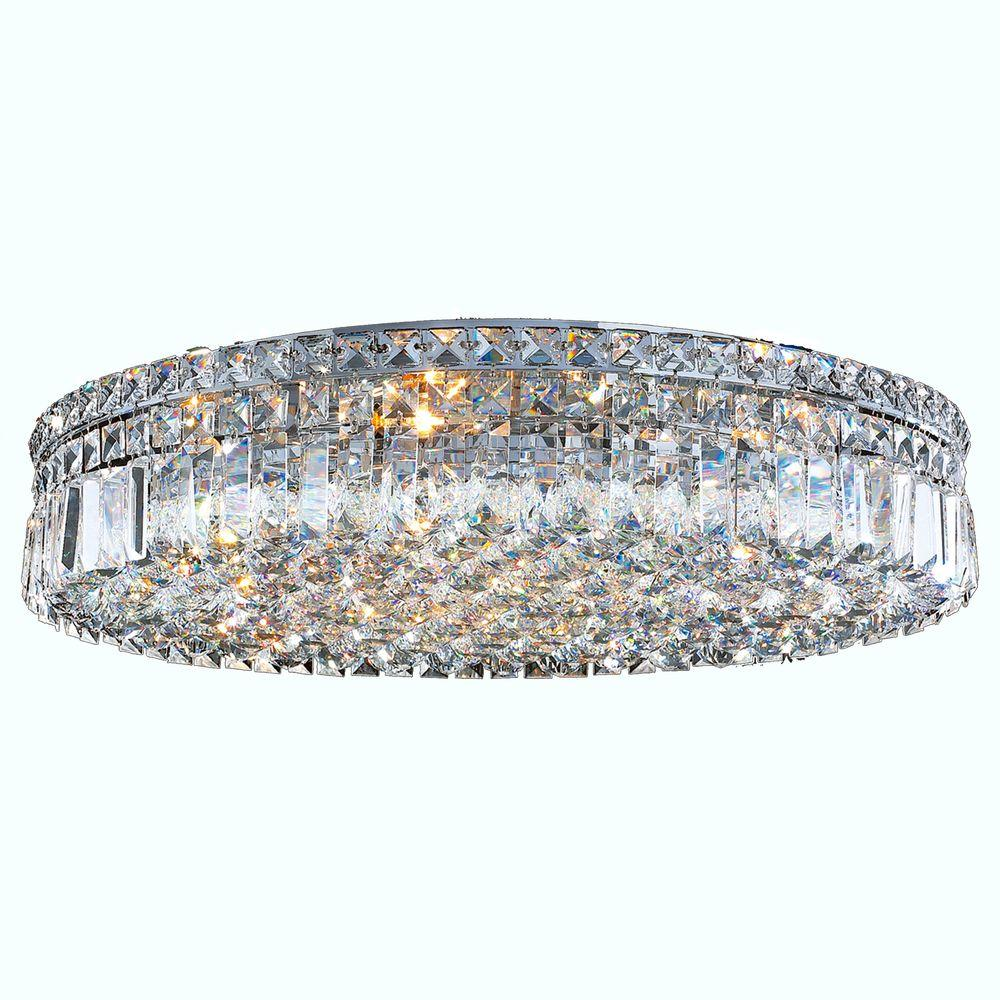 Cascade Collection 9 Light Crystal and Chrome Ceiling Light