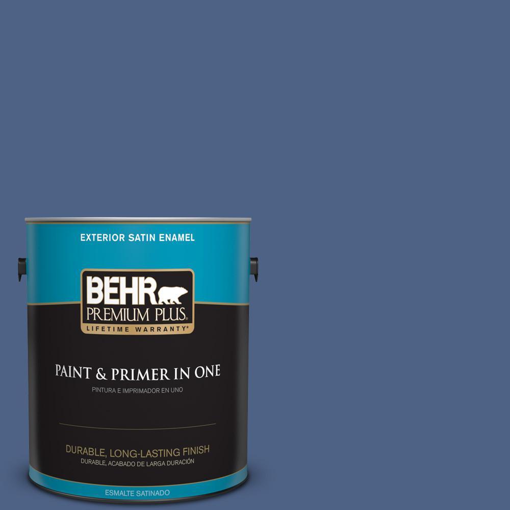 1 gal. #PPU15-04 Mosaic Blue Satin Enamel Exterior Paint