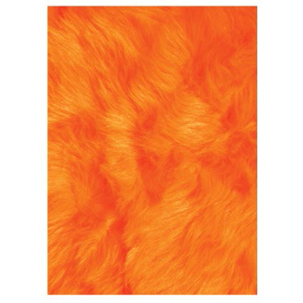 Flokati Orange 3 ft. x 4 ft. Area Rug