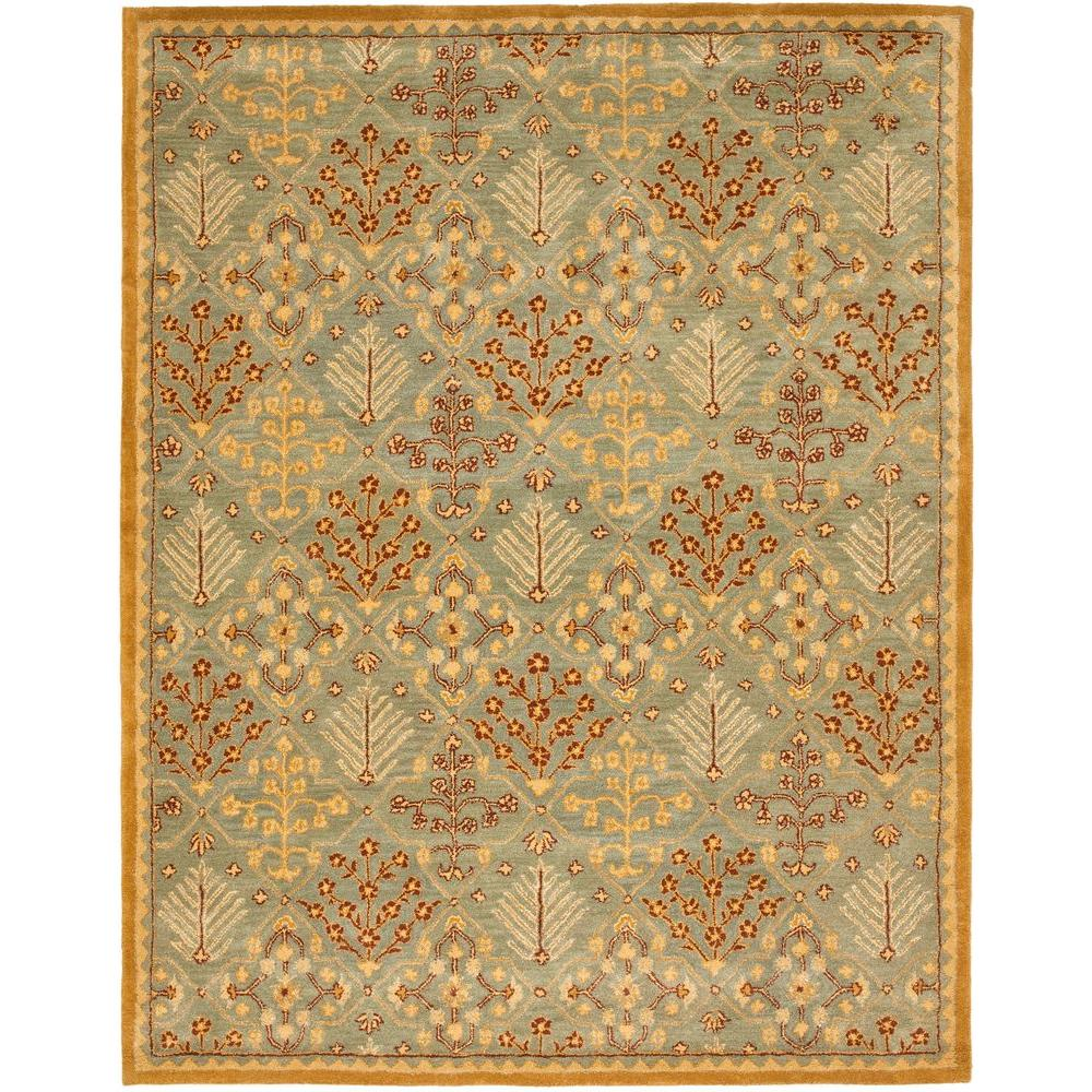 Large Area Rugs Gold: Safavieh Antiquity Light Blue/Gold 5 Ft. X 8 Ft. Area Rug