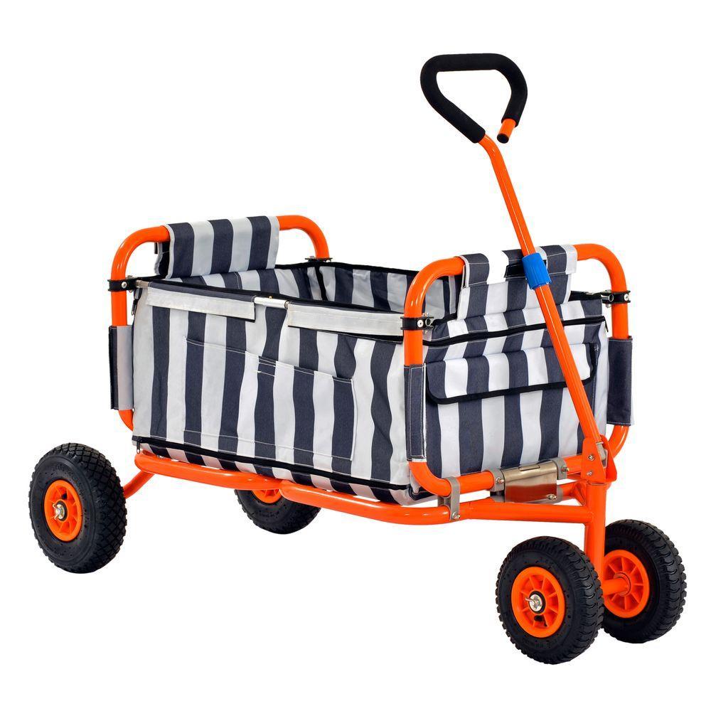 Muscle Rack 8 cu. ft. 54 in. W Folding Utility Cart, 200 lb. Capacity