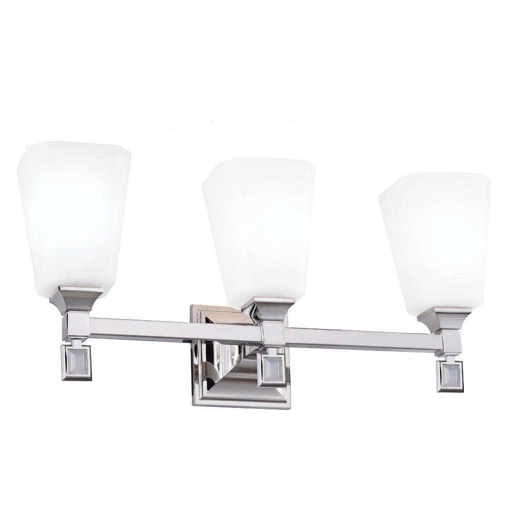 Sophie 3-Light Polished Nickel Vanity Light