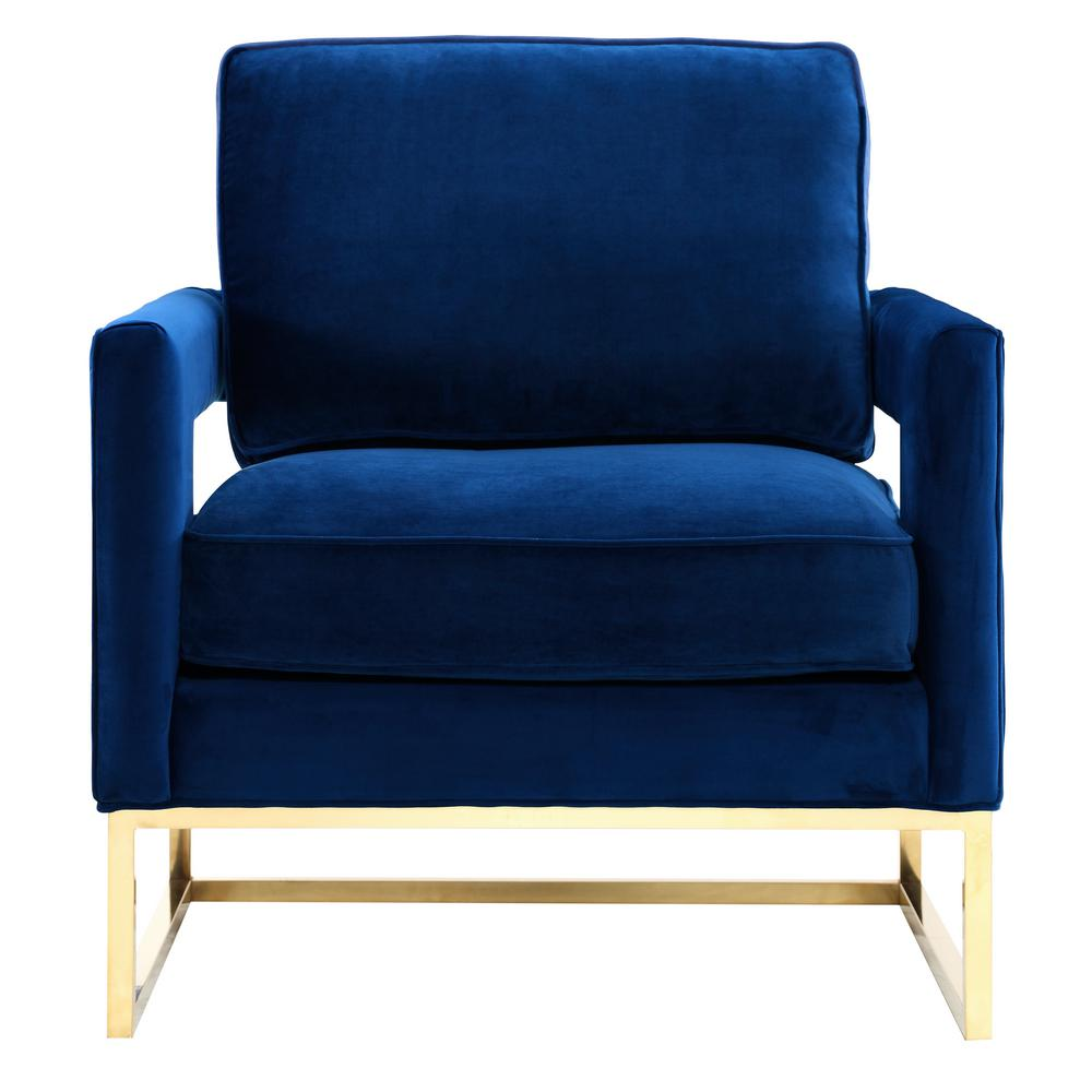 Attirant TOV Furniture Avery Navy Velvet Chair