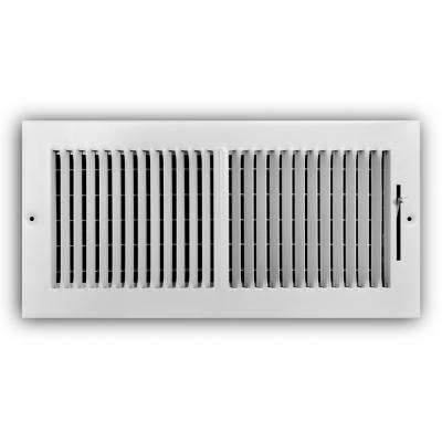 14 in. x 6 in. 2-Way Wall/Ceiling Register