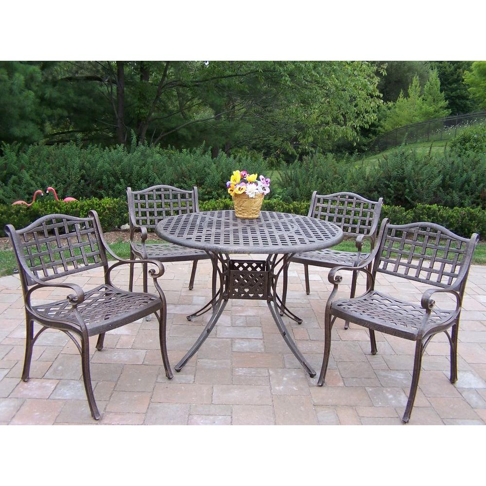 home depot patio furniture oakland living elite 5 patio dining set 1102 1109 5 10584