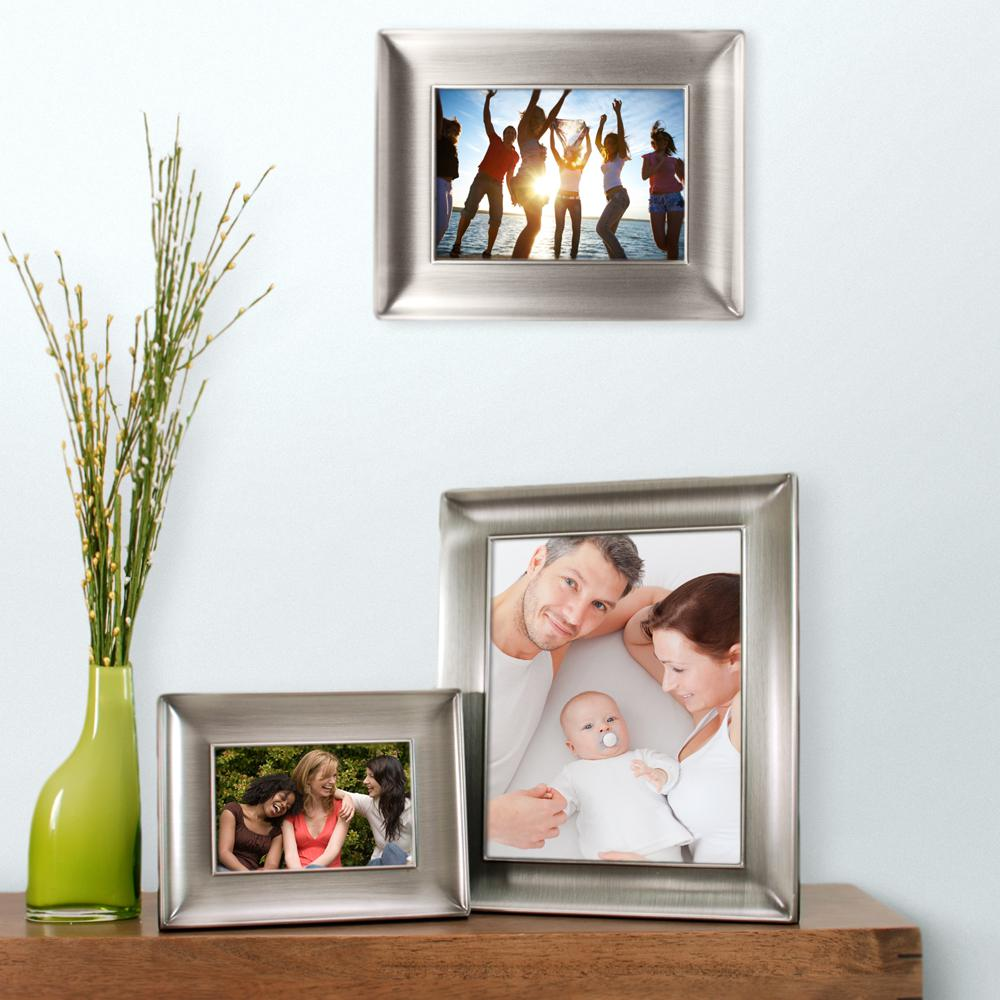 nexxt Devyn 8 in. x 10 in. Metal Picture Frame-Pewter Finish With ...
