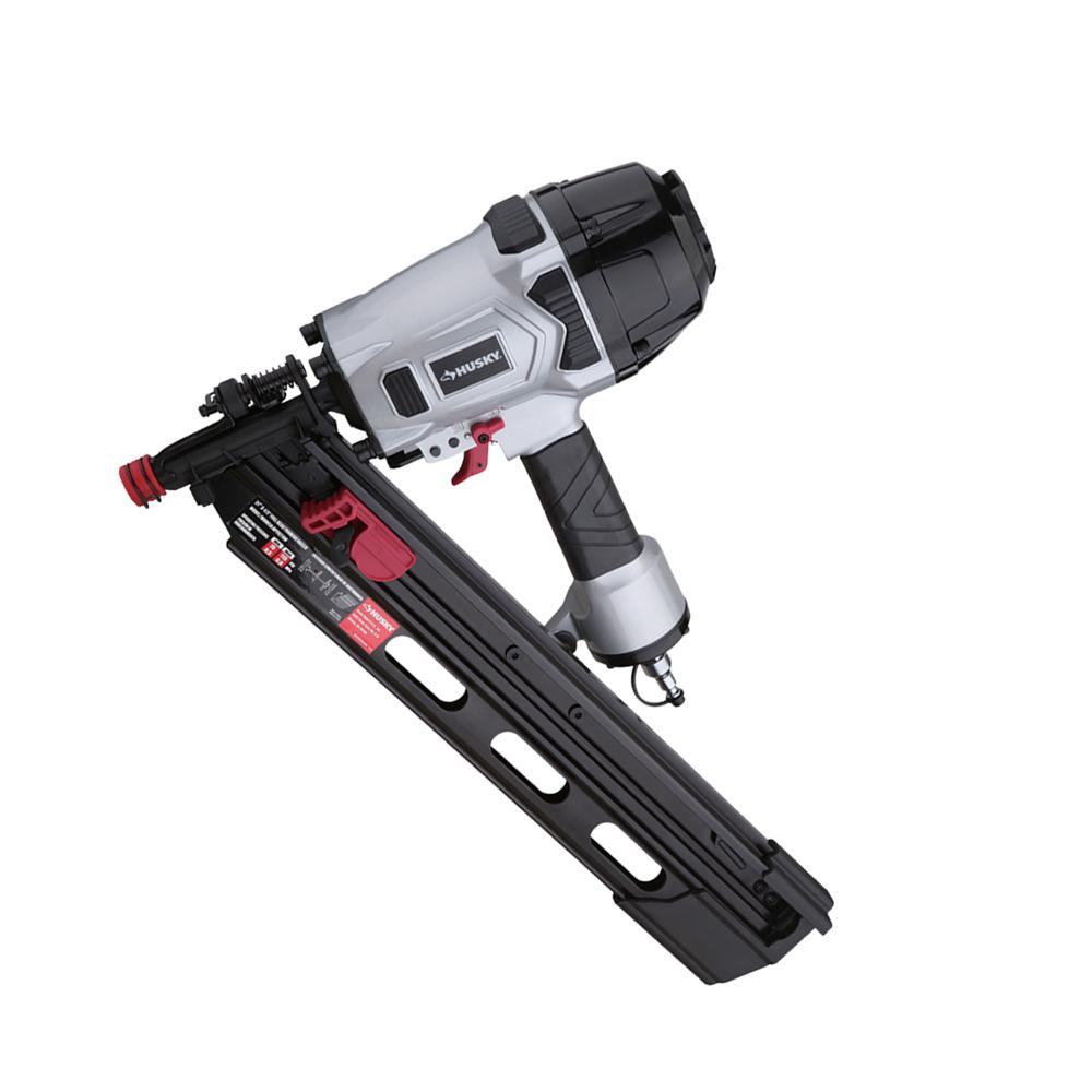 Husky Pneumatic 21-Degree 3-1/2 in. Full Round Head Framing Nailer