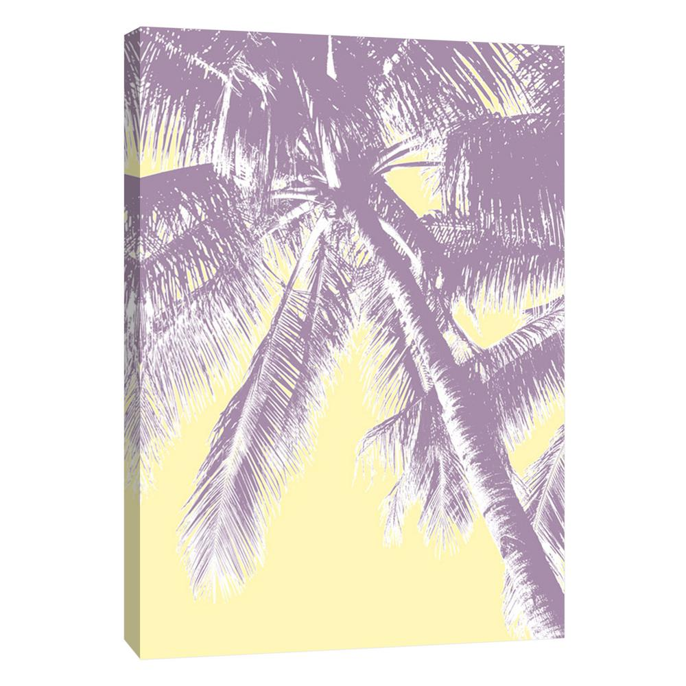 ptm images 12 in x 10 in retro palms 3 printed canvas wall art