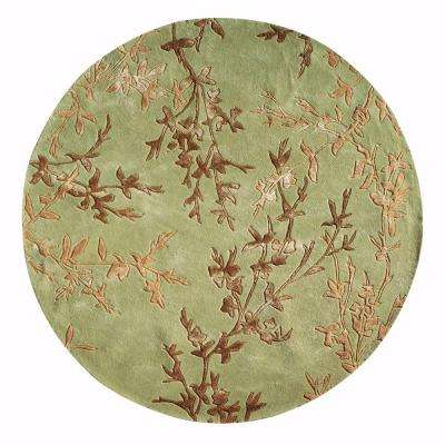 Chaparral Green 8 ft. Round Area Rug