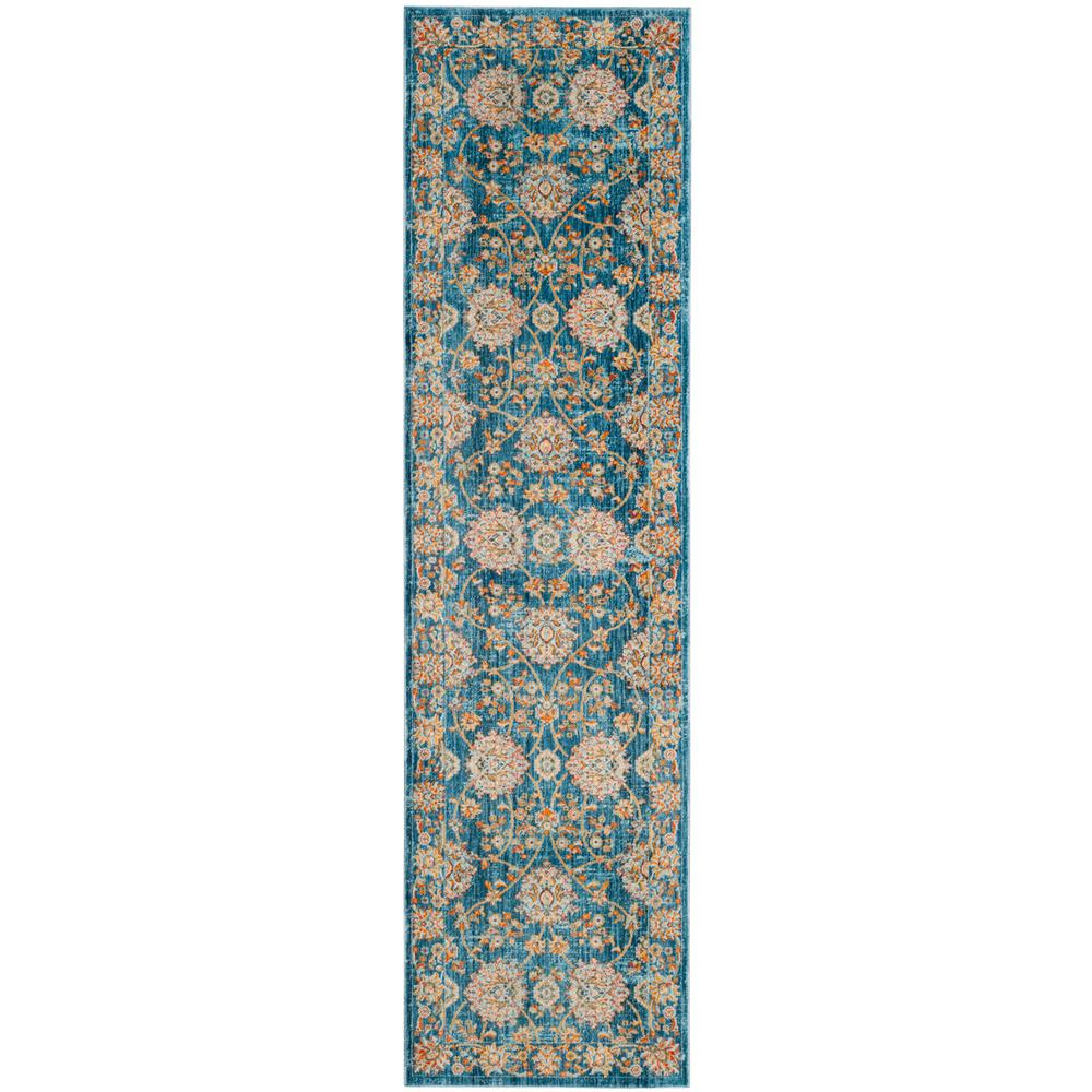 Safavieh Vintage Persian Turquoise/Multi 2 ft. x 8 ft. Runner Rug