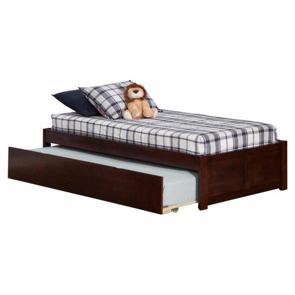 Atlantic Furniture Concord Twin Platform Bed with Flat Panel Foot Board