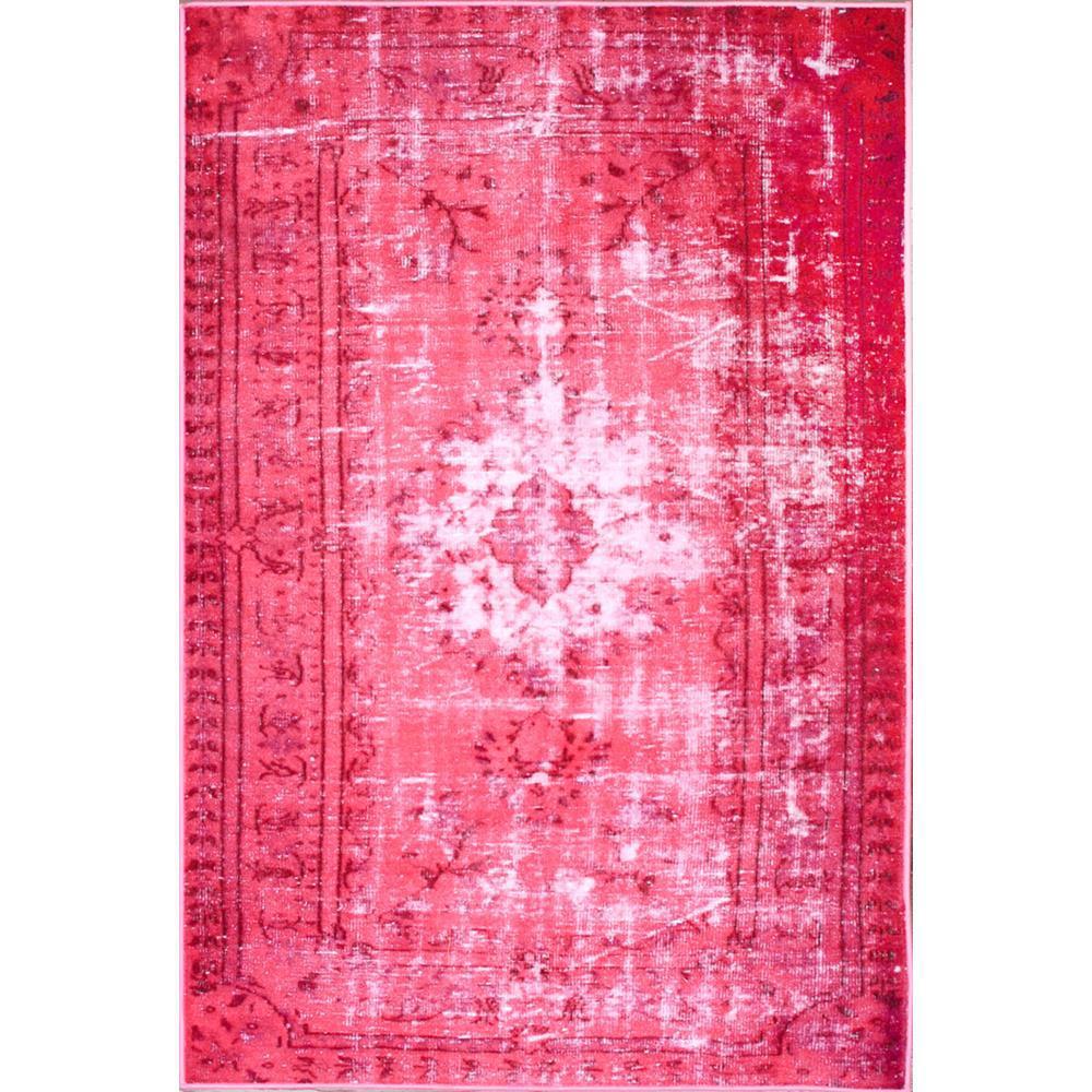 Nuloom Washable Rugs: NuLOOM Chroma Overdyed Style Pink 4 Ft. X 6 Ft. Area Rug