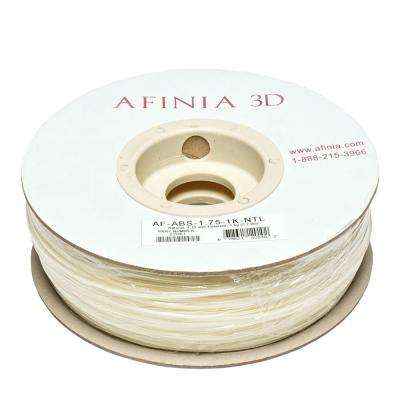 Value-Line 1.75 mm Natural White ABS Plastic 3D Printer Filament (1kg)