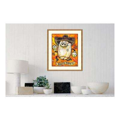 22 in. W x 26 in. H 'Burrito Perfecto' by Jorge R. Gutierrez Framed Printed Wall Art