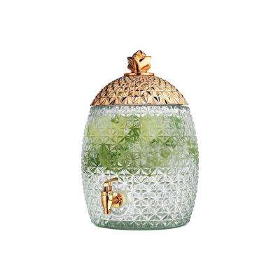 1.7 Gal. Gold Lid Pineapple Beverage Dispenser