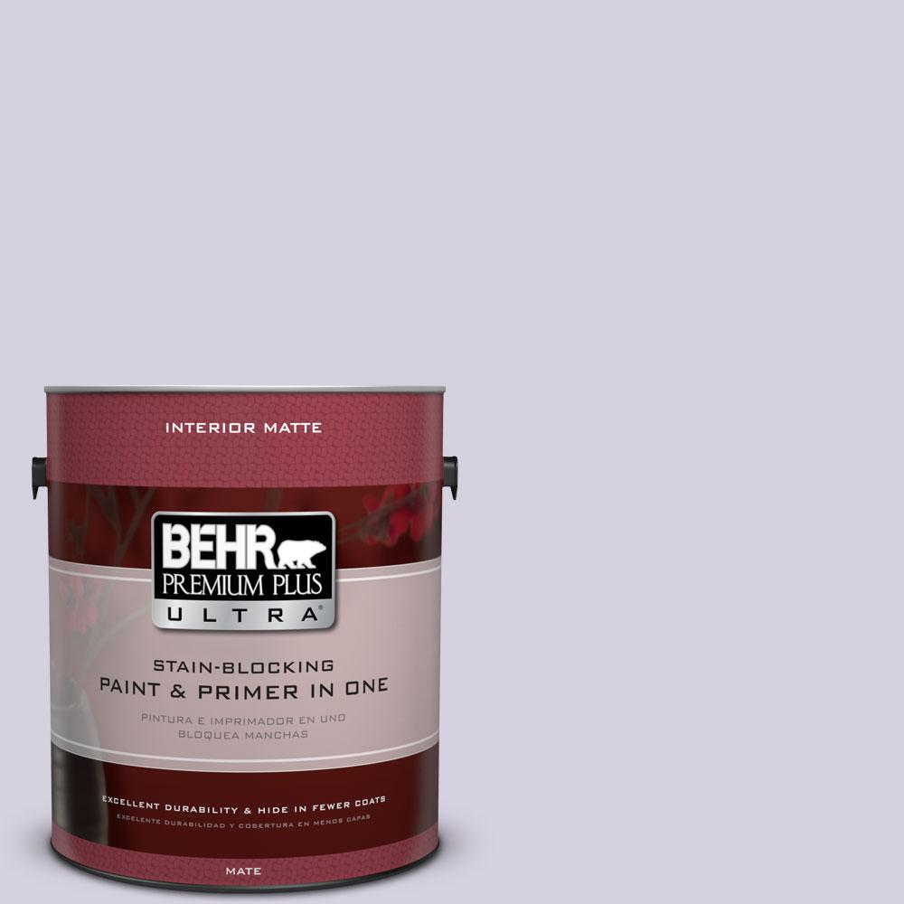 1 gal. #650E-2 Lovely Lavender Matte Interior Paint and Primer in