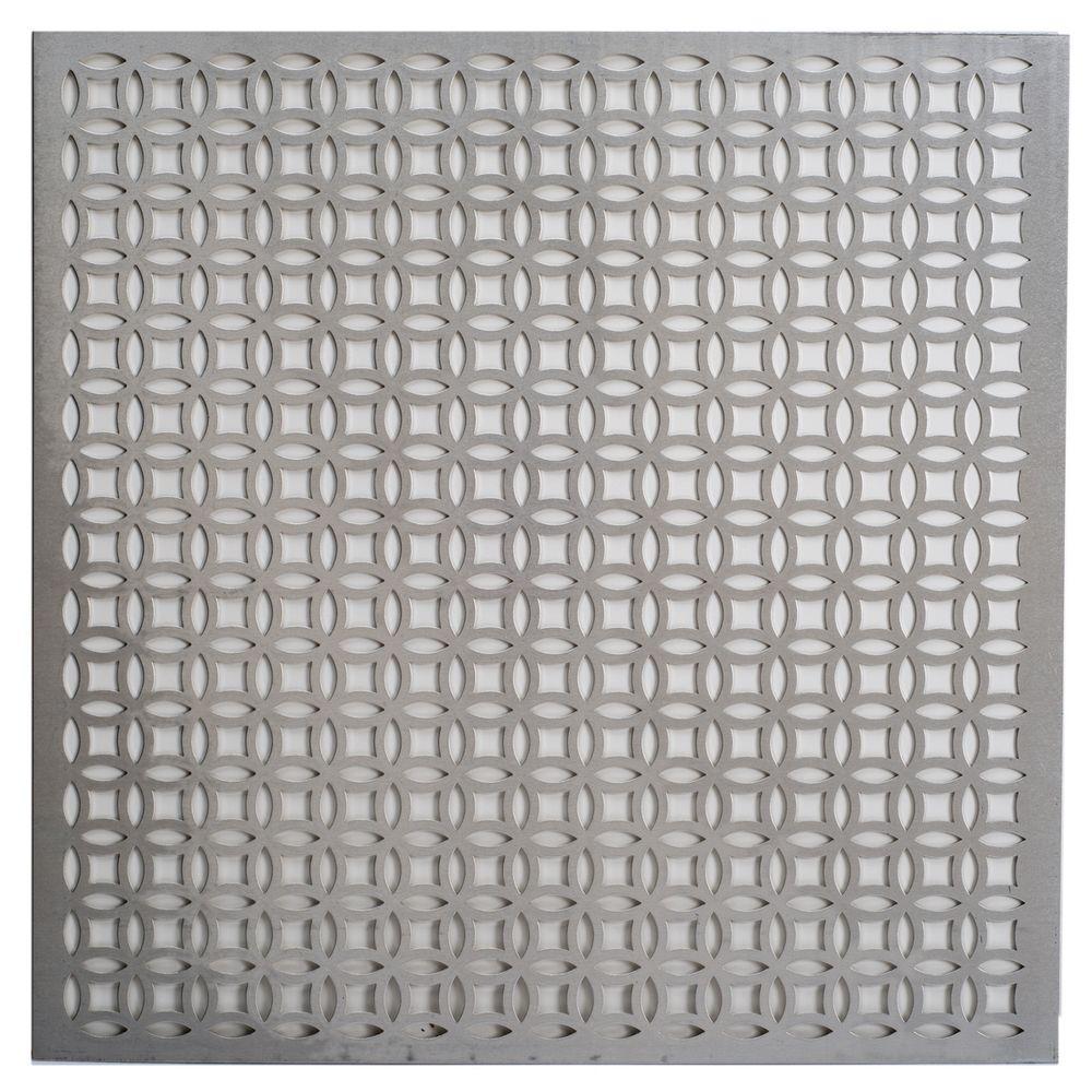 M D Building Products 1 Ft X 1 Ft Elliptical Aluminum