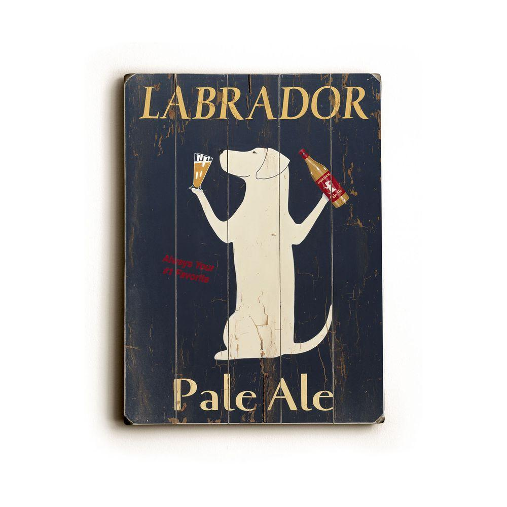 ArteHouse 9 in. x 12 in. Labrador Pale Ale Vintage Wood Sign-DISCONTINUED